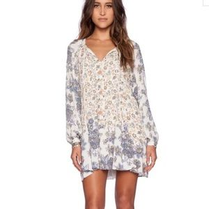 Free People Lucky Loosie Swing Dress Floral Large